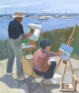 Painting At North Head by Jennifer Hinrichs